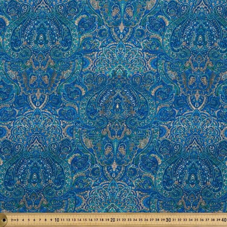 Paisley Printed 138 cm Cumbria Bubble Crepe Fabric