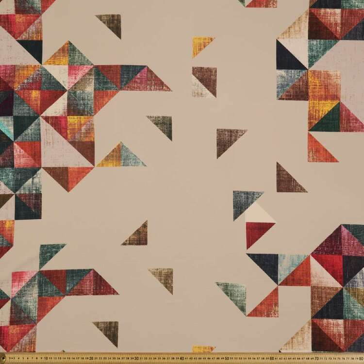 Geo Printed 138 cm Cumbria Bubble Crepe Fabric