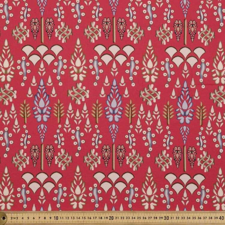 Damask Print #6 138 cm Cumbria Bubble Crepe Fabric