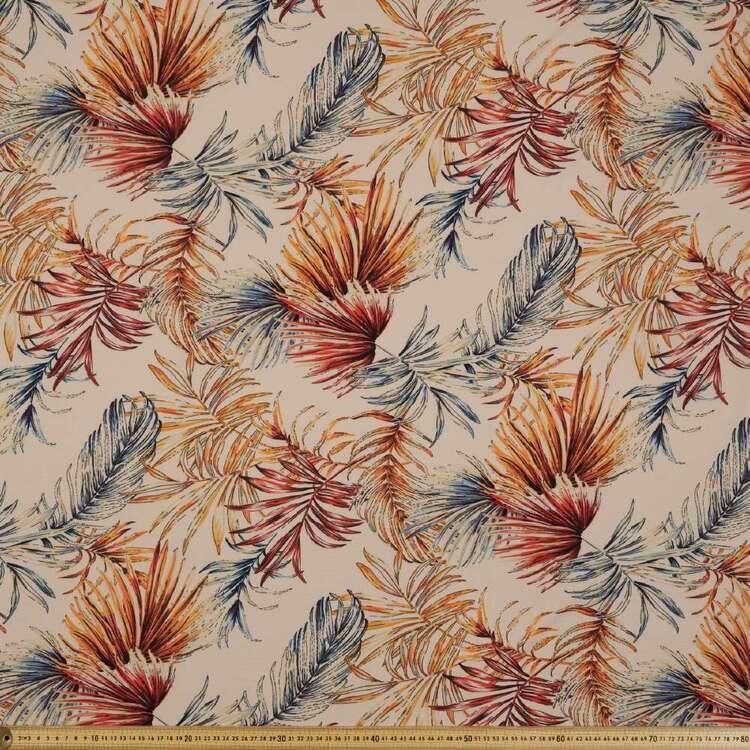Palm Leaf Printed 138 cm Cumbria Bubble Crepe Fabric