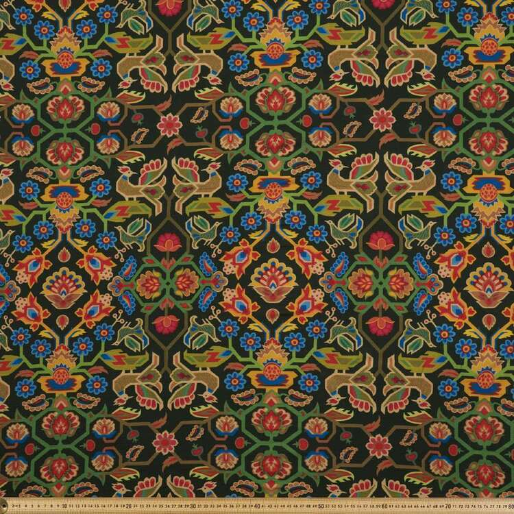 Damask Print #7 138 cm Cumbria Bubble Crepe Fabric