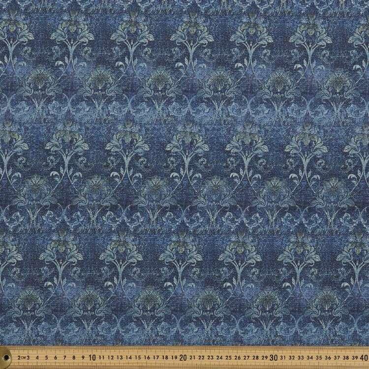 Damask Printed 138 cm Cumbria Bubble Crepe Fabric