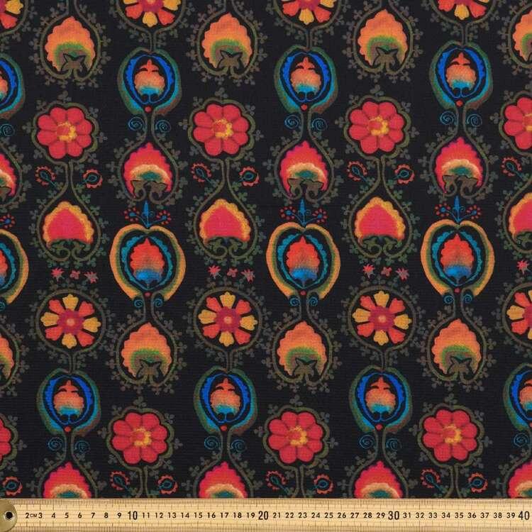 Damask #2 Printed 138 cm Cumbria Bubble Crepe Fabric