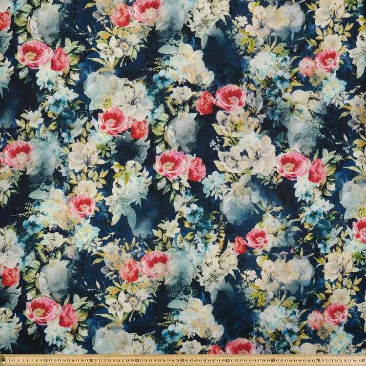 Floral Printed 138 cm Cumbria Bubble Crepe Fabric