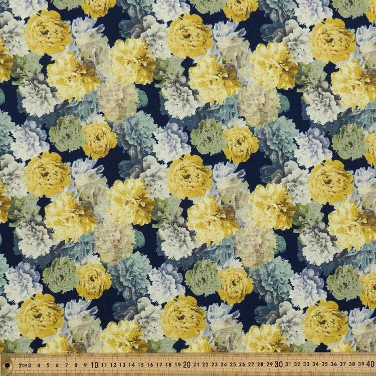 Bloom Printed 138 cm Cumbria Bubble Crepe Fabric