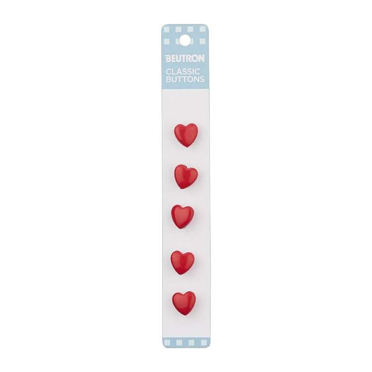Beutron Classic Heart Button 5 Pack