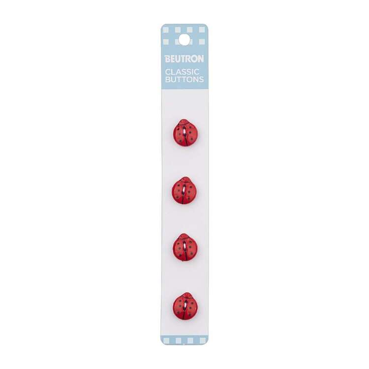 Beutron Classic Ladybug Button 4 Pack