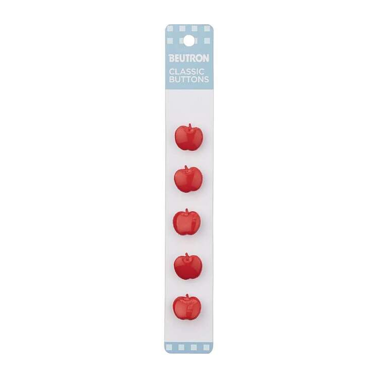 Beutron Classic Apple Button 5 Pack
