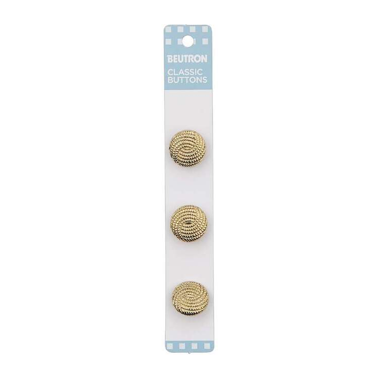 Beutron Classic Metallic Button 3 Pack
