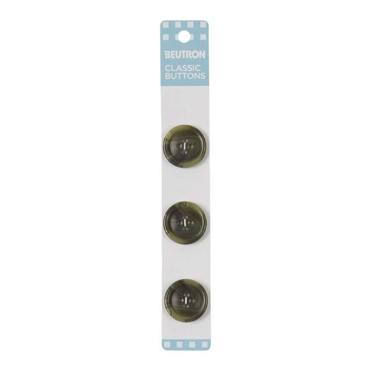 Beutron Classic 4 Hole Button 3 Pack