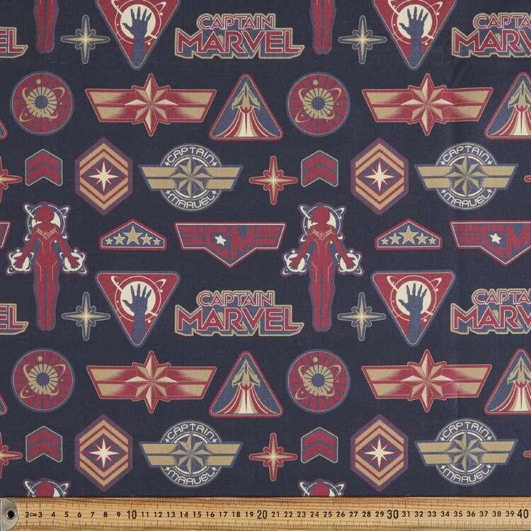 Marvel Avengers Captain Marvel Cotton Fabric
