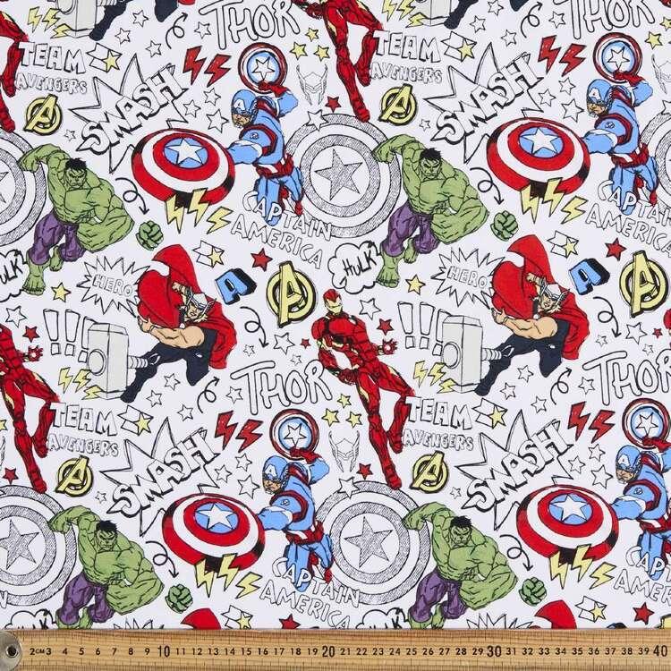 Marvel Avengers Cotton Spandex Fabric