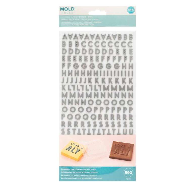 We R Memory Keepers Moldpress Alphabet Sticker