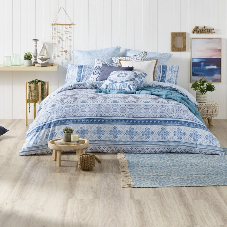 Ombre Home Weathered Coastal Quilt Cover Set