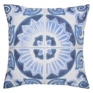 Ombre Home Weathered Coastal Mandala Tile Cushion