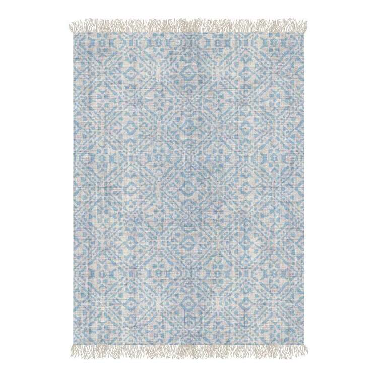 Ombre Home Weathered Coastal Printed Cotton Rug