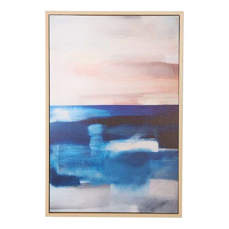 Ombre Home Weathered Coastal Abstract Framed Art