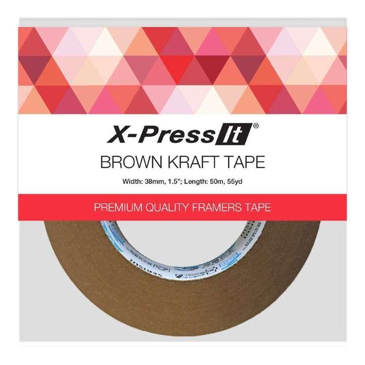 X-Press It 38 mm x 50 m Brown Kraft Tape
