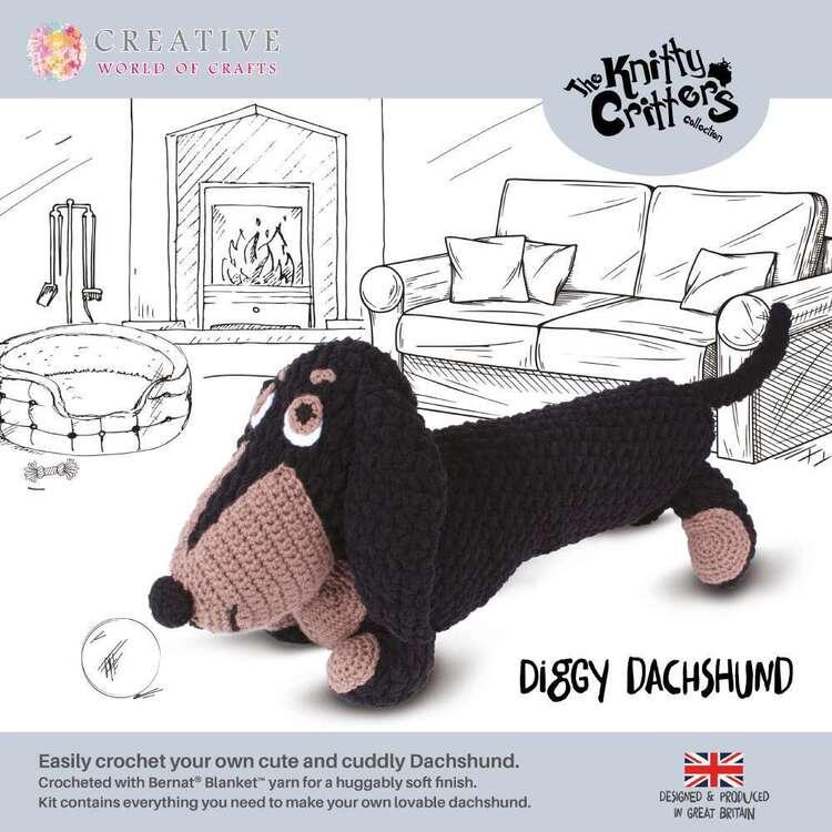 Knitty Critter Diggy Dachshund Pattern