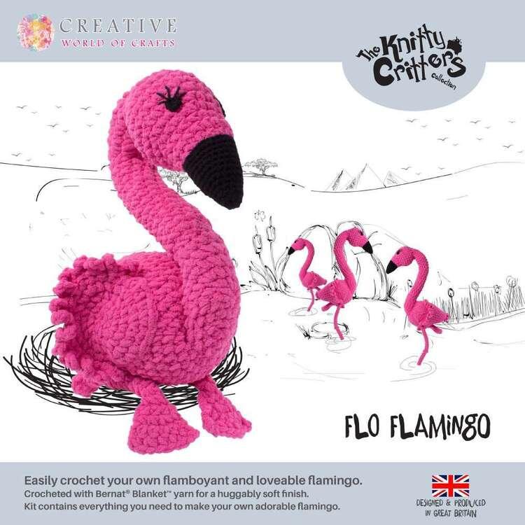 Knitty Critter Flo Flamingo Pattern