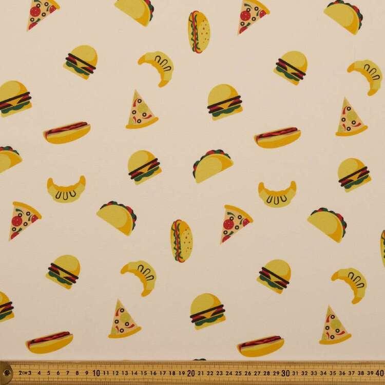 Party Play Hamburger Print Polyester Fabric