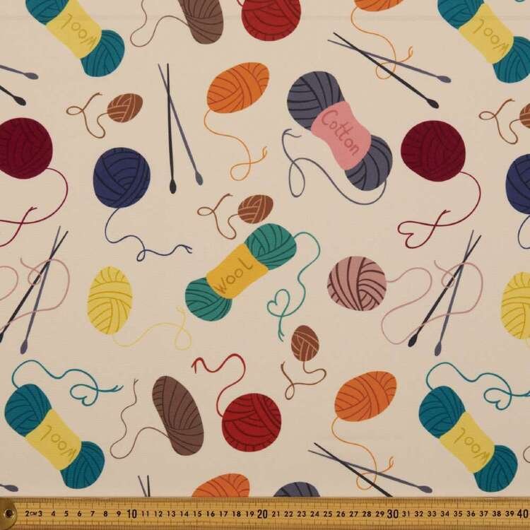 Party Play Wool Yarns Print Polyester Fabric