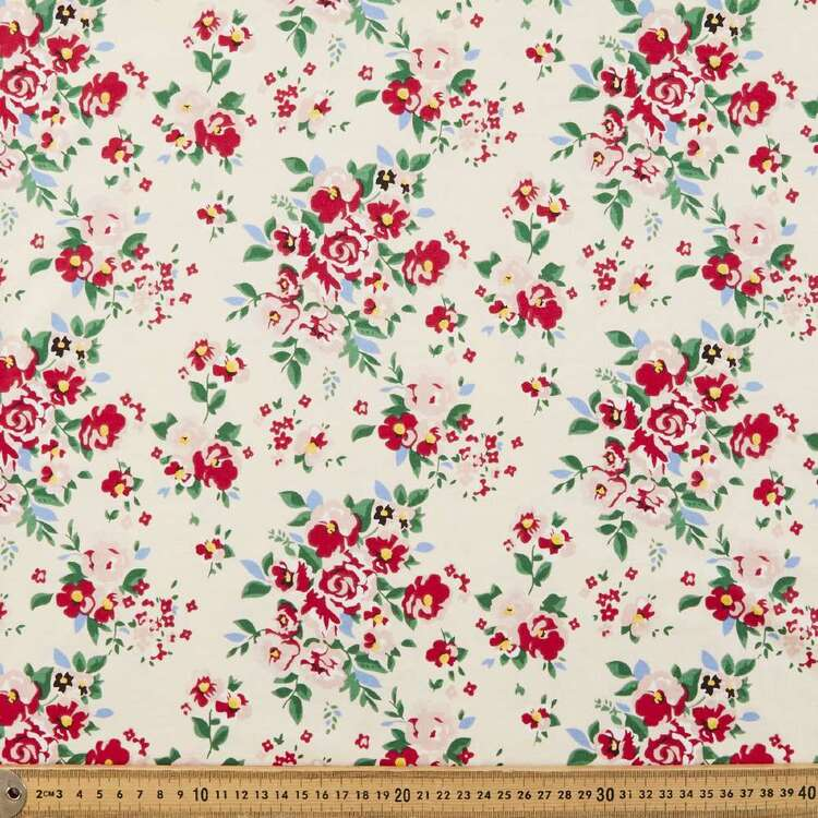 Rose Printed 112 cm Combed Cotton Jersey Fabric