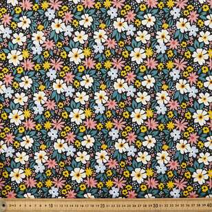 Daisy #2 Printed 112 cm Combed Cotton Jersey Fabric