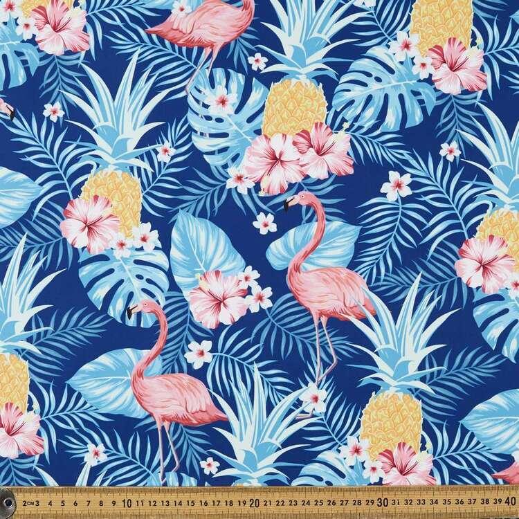 Tropical Flamingo Printed 150 cm Trunk Microfiber Fabric