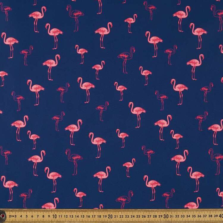 Flamingo Printed 150 cm Trunk Microfiber Fabric