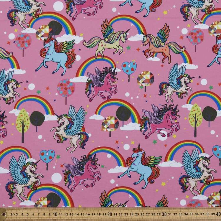 Party Play Unicorn Print Polyester Fabric