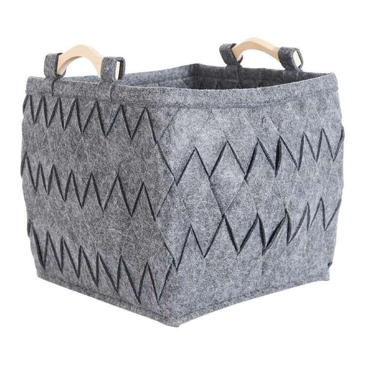 Living Space Henley Felt Cube Storage Basket