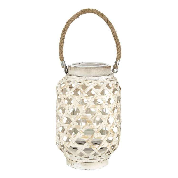 Bouclair Costa Lantern Rope Handle Candle Holder