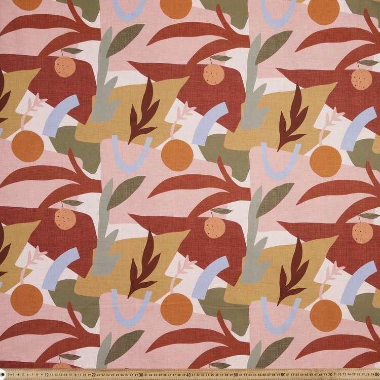 Tuscan Sun Peach Printed 112 cm Montreaux Drill Fabric