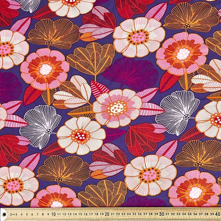 Jocelyn Proust Abandoned Flower Printed 148 cm Rayon Spandex Fabric