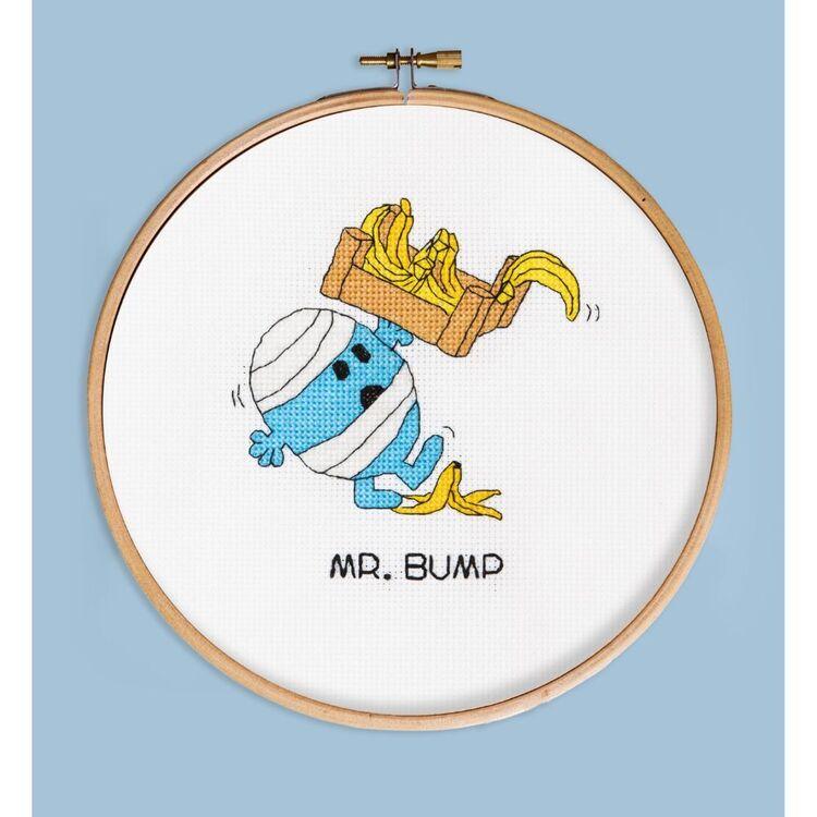 Mr Men & Little Miss Mr Bump Cross Stitch Hoop Kit
