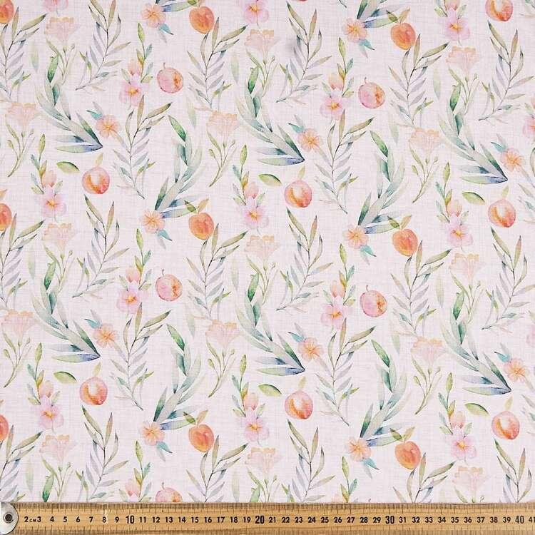 Peaches Digital Printed 112 cm Cotton Poplin Fabric