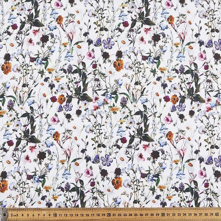Fields Digital Printed 112 cm Cotton Poplin Fabric