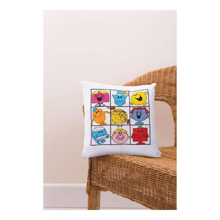 Mr Men & Little Miss Sunshine Cushion Cross Stitch Kit