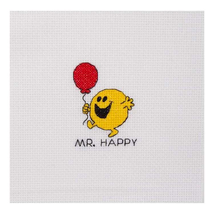 Mr Men & Little Miss Mr Happy Mini Cross Stitch Kit