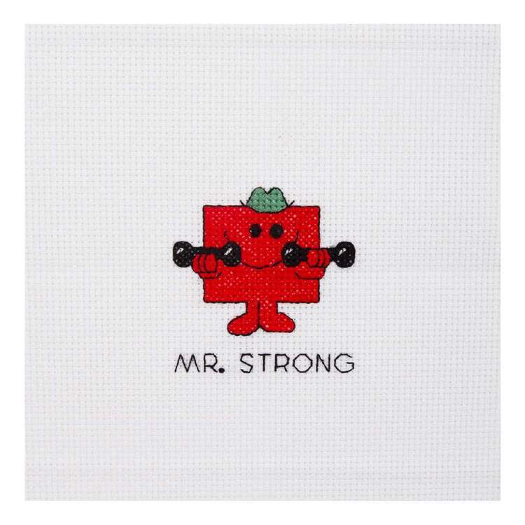 Mr Men & Little Miss Mr Strong Mini Cross Stitch Kit