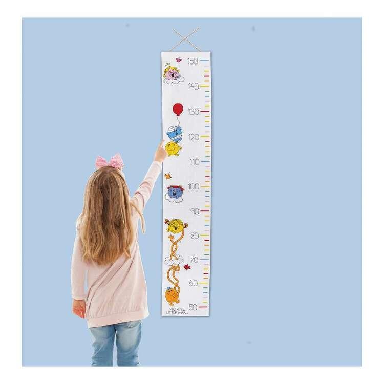 Mr Men & Little Miss Cross Stitch Height Chart
