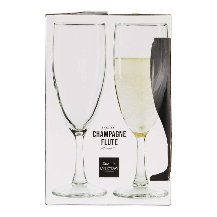 Circleware Simply Everyday Champagne Flute Glass 4 Pack
