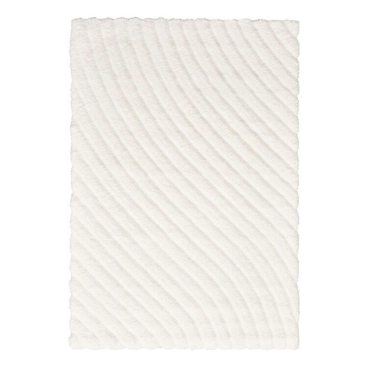 Soft Hills #12 Indoor polyester Rug White 160 x 230 cm