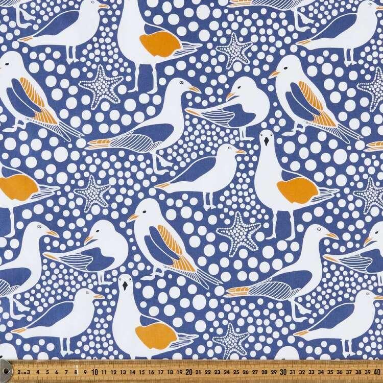 Kirsten Katz Seagull Cotton Satin