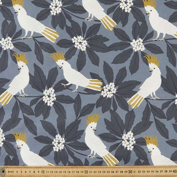 Jocelyn Proust Gold Cockatoo Cotton Satin