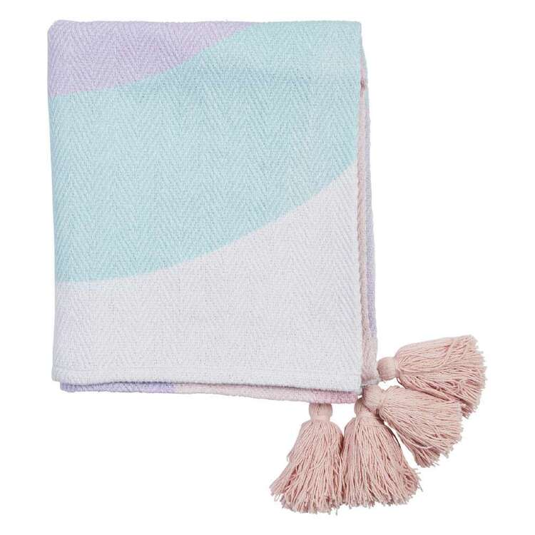 Kids House Rainbow Throw