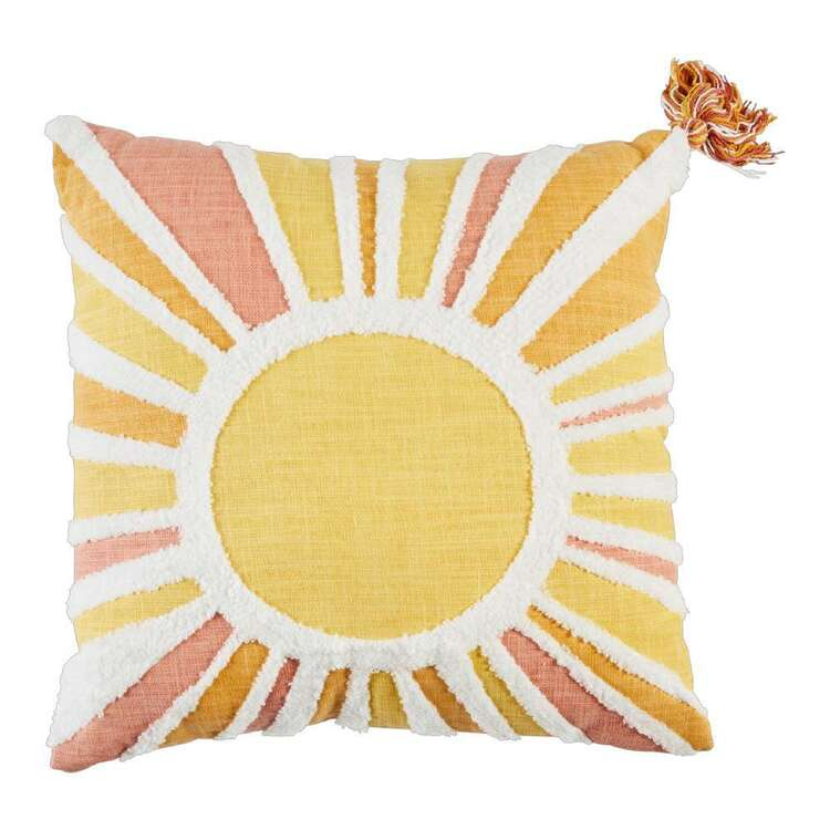 Kids House Sunshine Textured Cushion