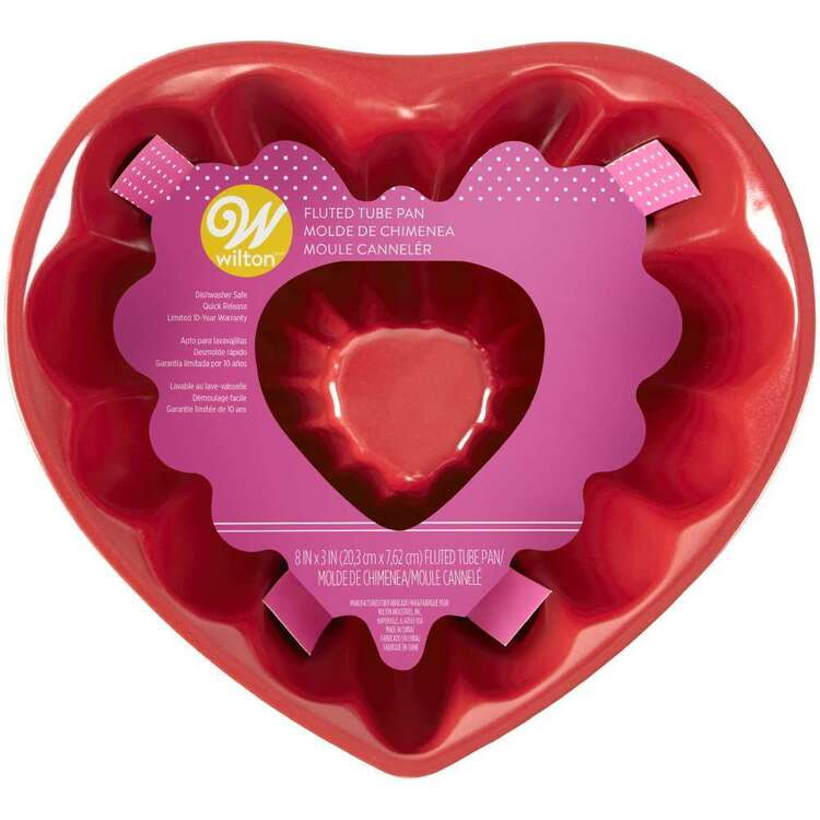 Wilton Fluted Tube Heart Pan