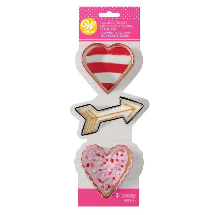 Wilton Valentine's 3 Piece Cookie Cutter Set